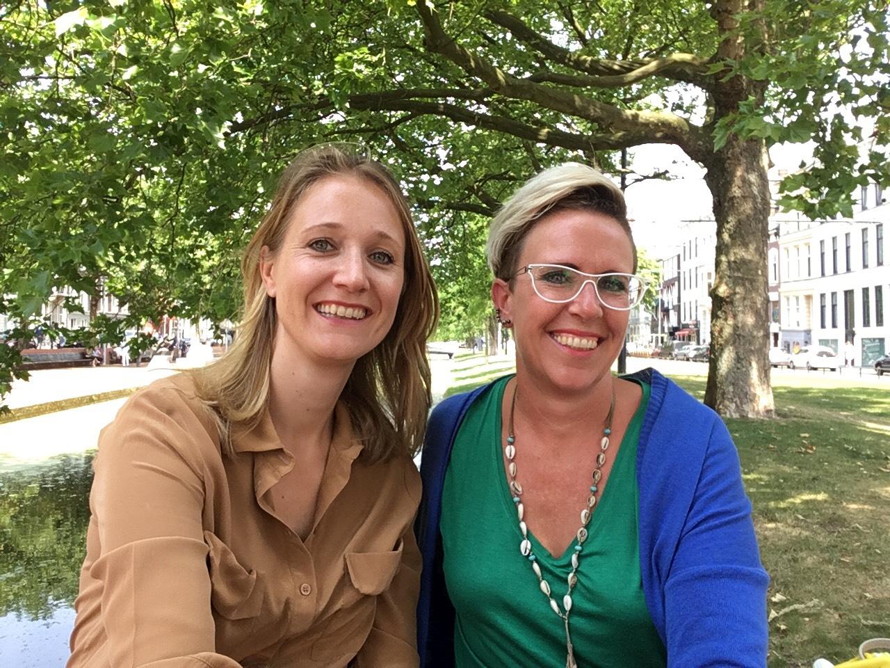 Anke van der Sluis en Caroline Haan Imago