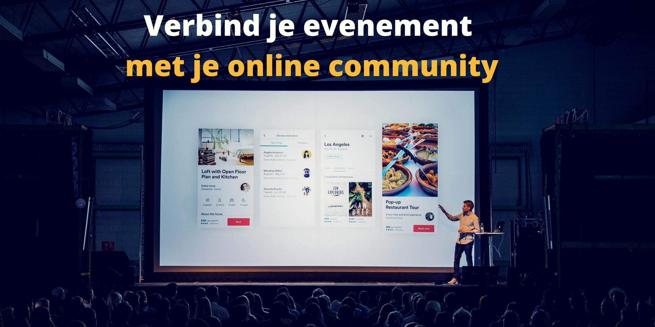 Verbind je evenement met je online community