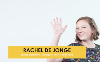 Rachel, onze plannenmaker